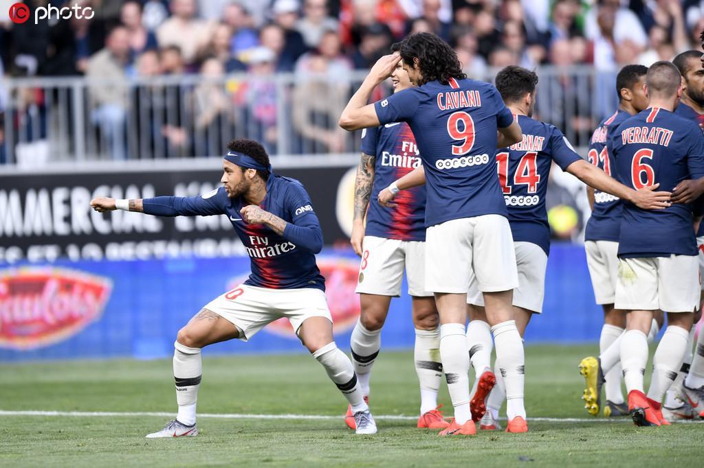 法甲-内马尔传射天使破门 巴黎2-1取近三轮首胜