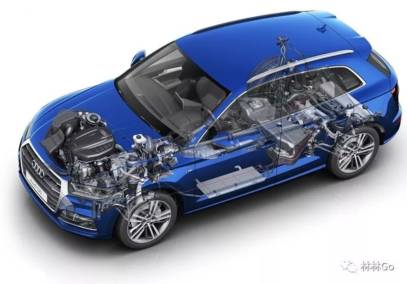 适时四驱 全时四驱 奥迪q5l quattro ultra四驱系统解析 有车以后高清图片