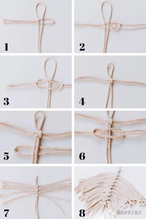 剩余棉绳就能编成的几片叶子,组合起来简直美翻了!(附教程)图片