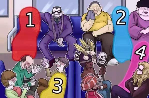 测试 | 这里有4个座位,你要坐哪里?