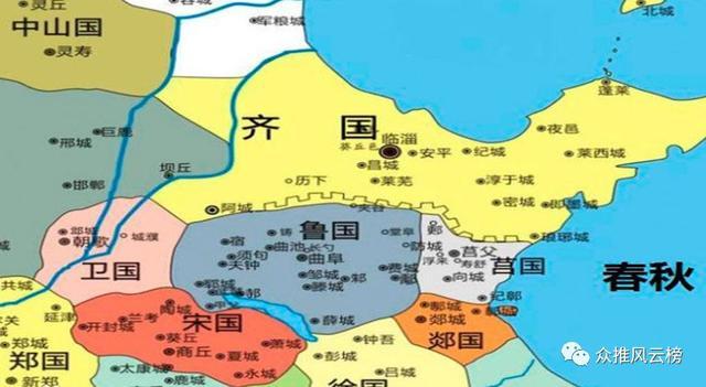 春秋战国时期各诸侯国的首都在何处,如今呢