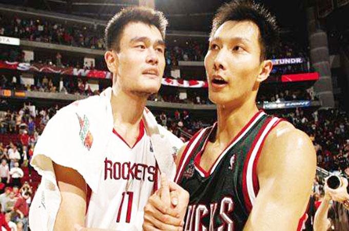 中国球员NBA选秀顺位榜!姚明状元、周琦43顺位、共计有8名球员被选中