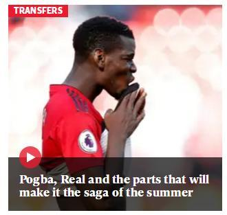 1.5亿镑!曼联对博格巴坚持高标价 皇马想用这1巨星交换遭拒绝