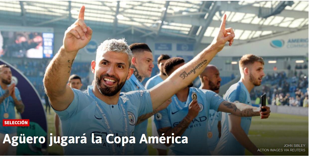 西媒:阿圭罗将被征召参加美洲杯 伊卡尔迪遭弃