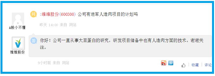 """维维股份澄清未涉及""""人造肉""""业务,向投资者致歉"""