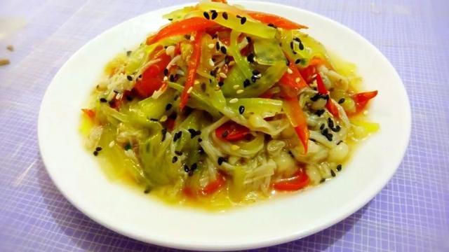 开胃小菜——凉拌金针菇