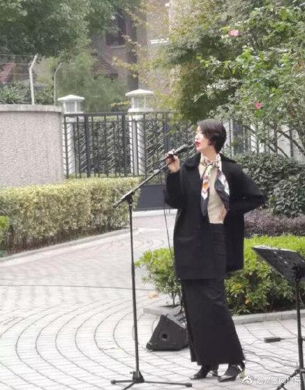 李亚鹏女友现身街头唱爵士,网友:还是王菲那一款!