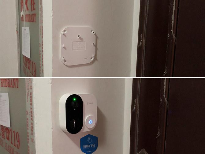 360可视门铃1C安装体验:远程轻松守护家门
