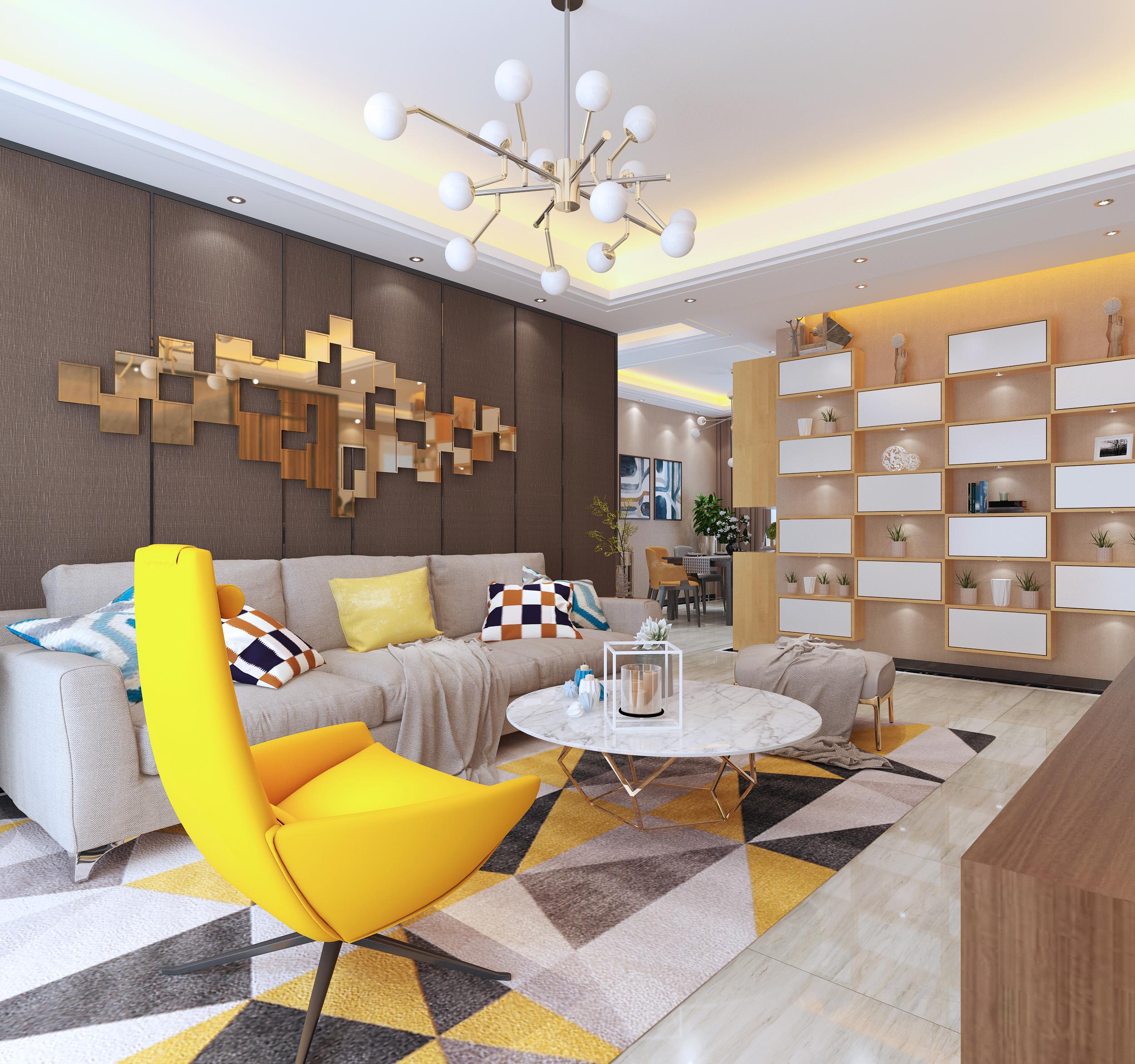 赣州木易120平米三室两厅套间房子现代风格装修视频