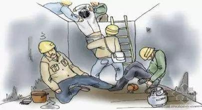 没有采取通风,防护措施,或者防护装备失效;监护不力;引火源;作业伤害图片