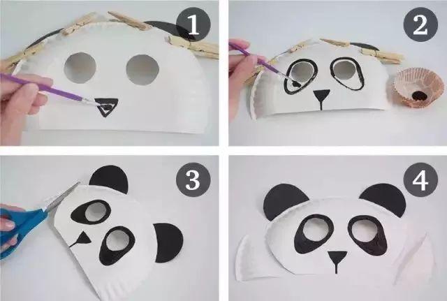 幼儿园创意手工面具 为六一活动收藏起来
