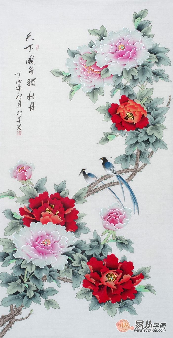三款精美的玄关花鸟画,随便一幅都能让玄关颜值在线