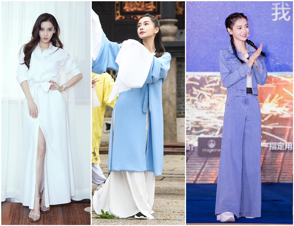 杨颖在新剧中换新发型,终于剪了齐刘海,一下子美回到了十年前