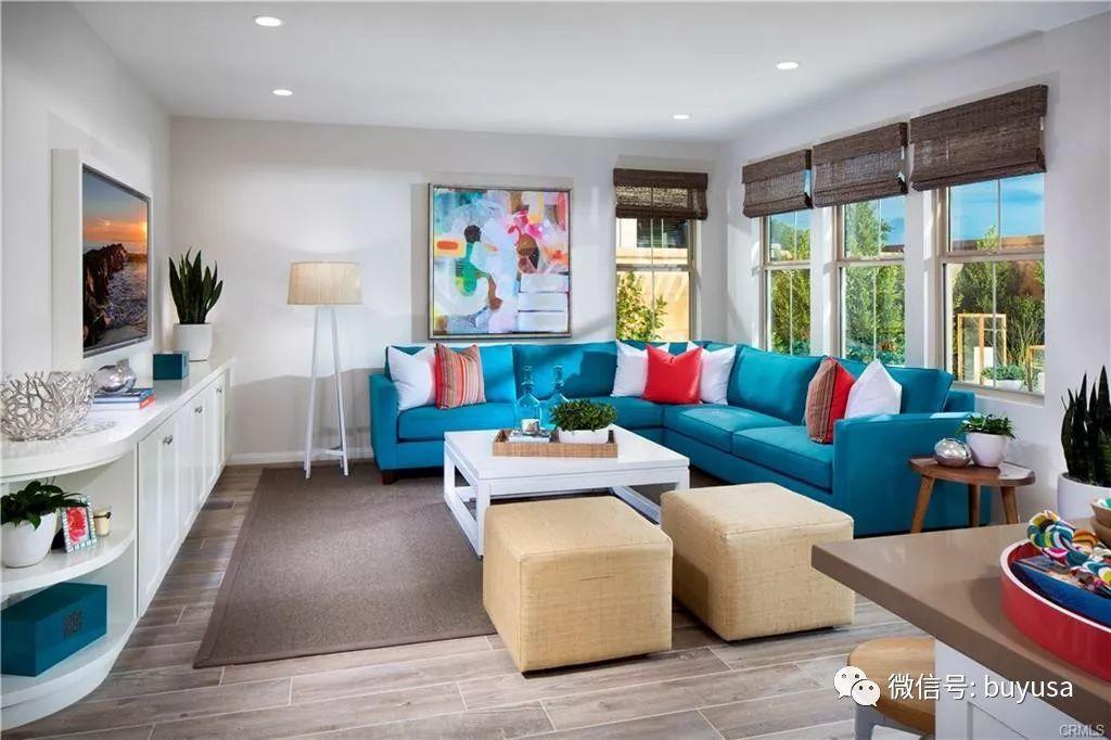 【尔湾房产】美国南加州Irvine市3卧联排新房户型简介【2019.05.15版】