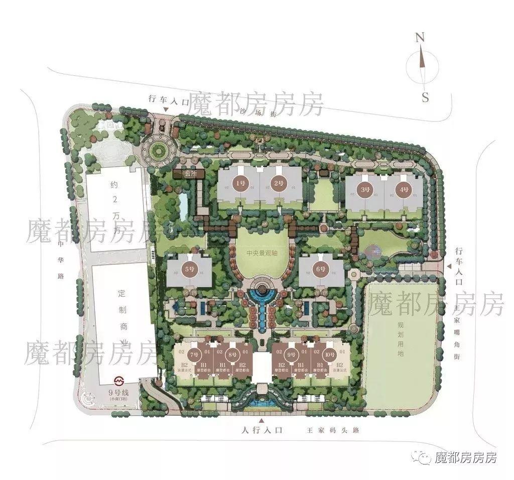 碧云尊邸 小区规划图