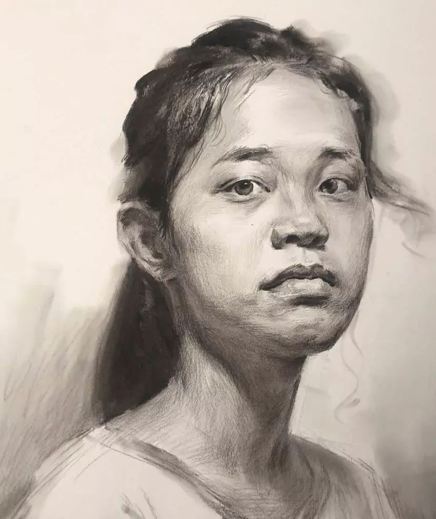 传奇绘画课堂回顾 第二四七集 朱传奇教你画扎马尾辫神情坚毅的女青年素描头像