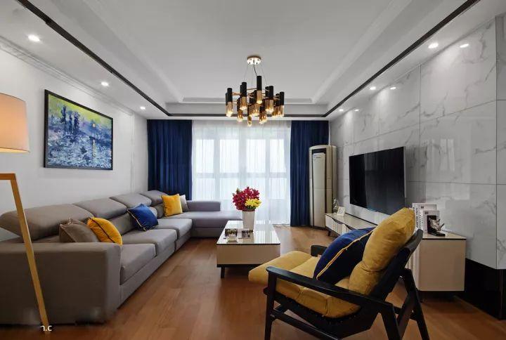 118平现代三居室,次卧榻榻米柜子这样做好大气!
