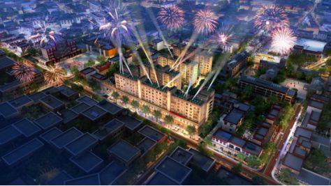 格萨尔王广场:天空之城,一城所向图片