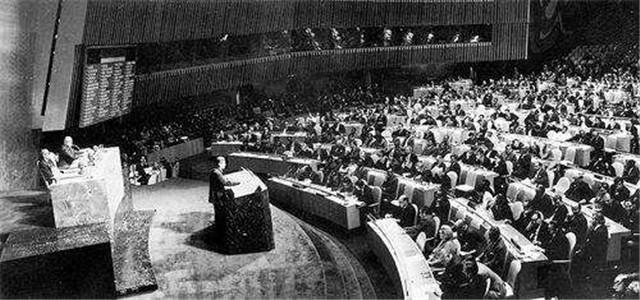 1971年 五星红旗在联合国升起
