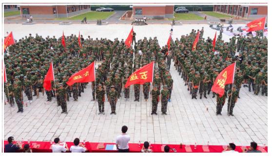 2019长沙沃亚德国际航空专修学院军训活动