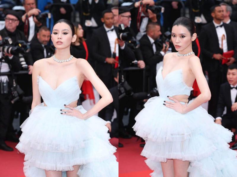 奚梦瑶薄纱裙秀身材,腰间赘肉抢镜 而关晓彤,昆凌衣品又下线了