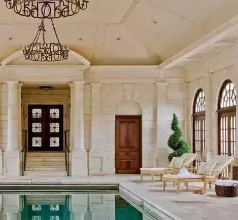 各种别墅豪宅室内外小区别墅装饰图,太齐全了!溢全椒石材泳池园景图片