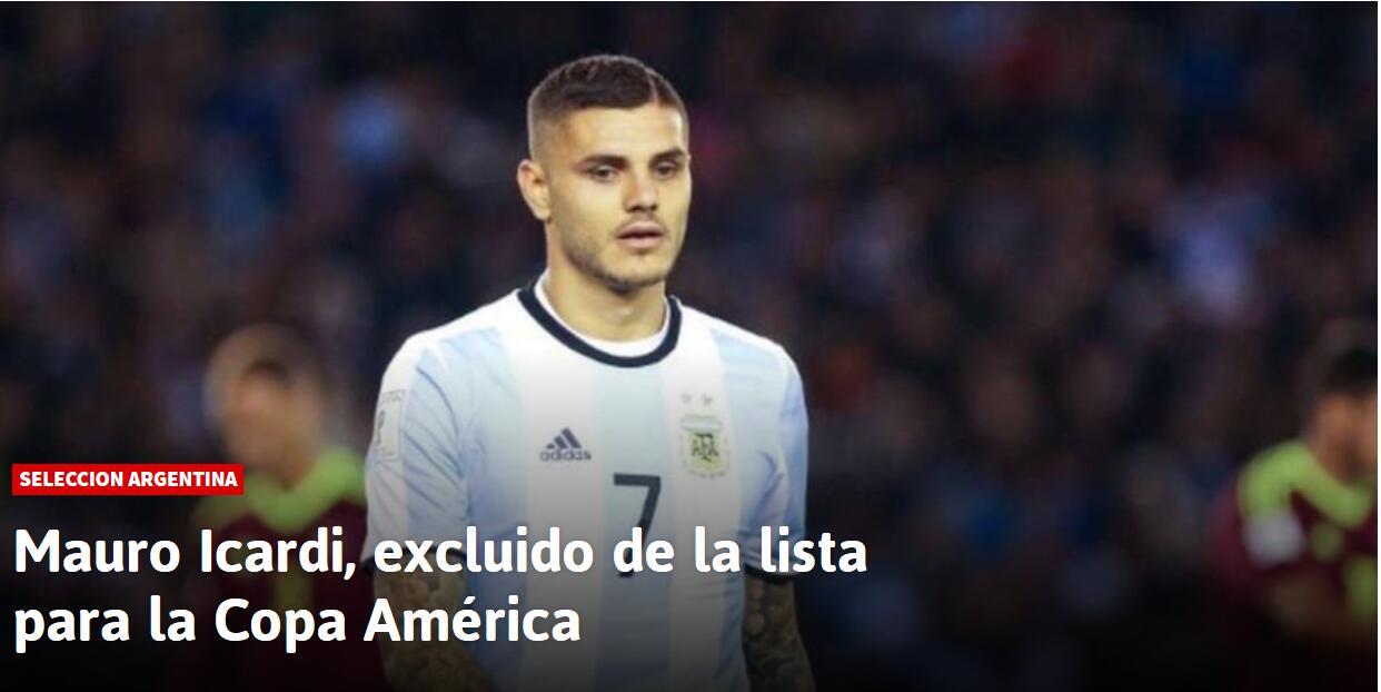 真惨!伊卡尔迪确定无缘美洲杯 阿圭罗再获机会