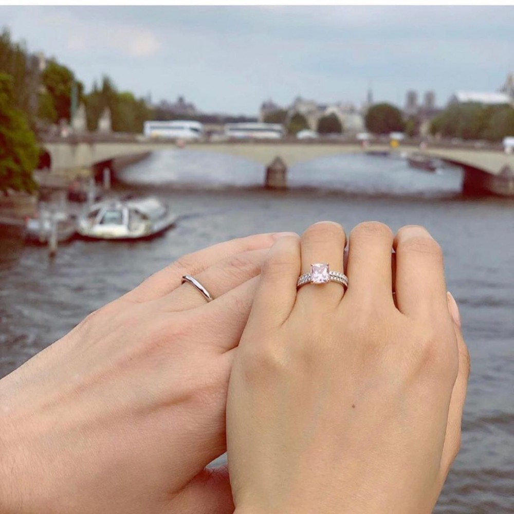 男才女貌的一对!陈法拉宣布与法籍男友结婚!