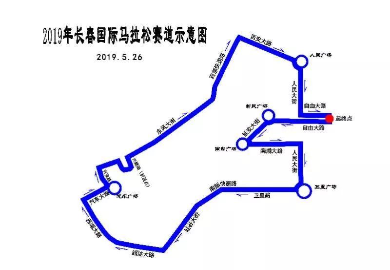 【交通】2019长春国际马拉松赛事期间交通管制来啦!周末出行你该咋走!