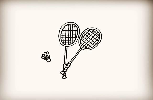 简笔画 羽毛球拍