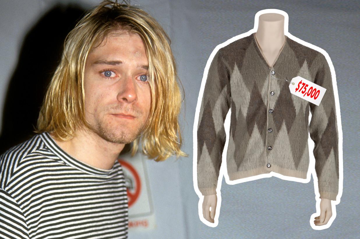 50多万拍价!Kurt Cobain经典开襟毛衣依旧备受瞩目!