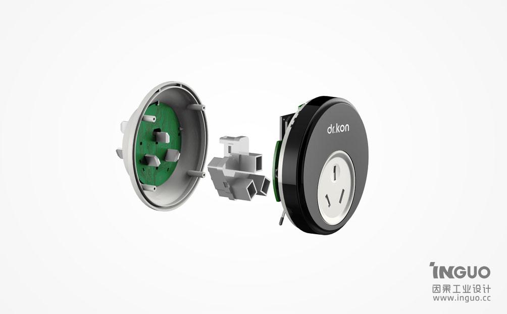工业设计案例-智能插座产品设计-深圳工业设计公司图片