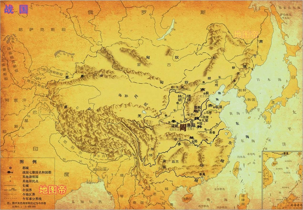 荆轲刺秦王图穷匕见,是哪里的地图?