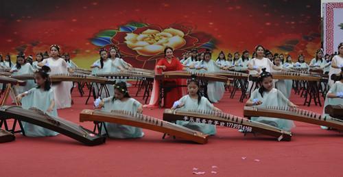 陕西城固举行祖国华诞·古筝献礼百人百筝大型公益演出活动