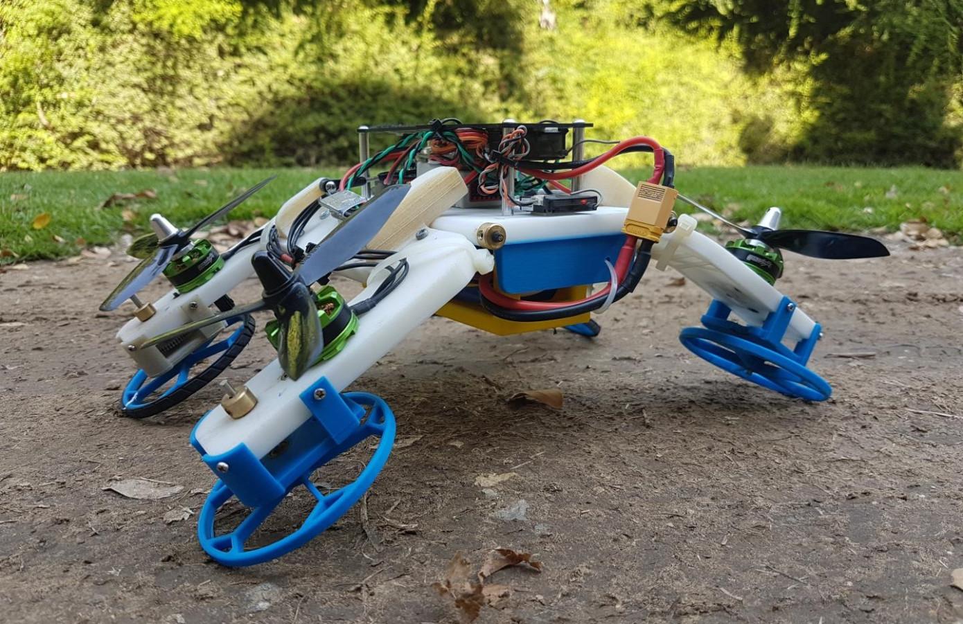 厉害了,这个机器人不仅能跑还能飞!