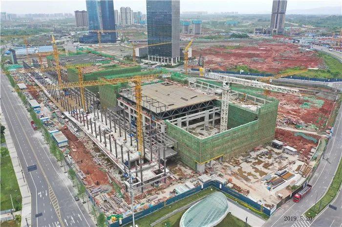 """成都最洋气的会议中心封顶了!年内将建成 """"国家级会客厅"""""""