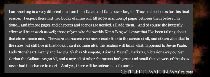 """乔治·R·R·马丁谈《权力的游戏》""""真正""""结局"""