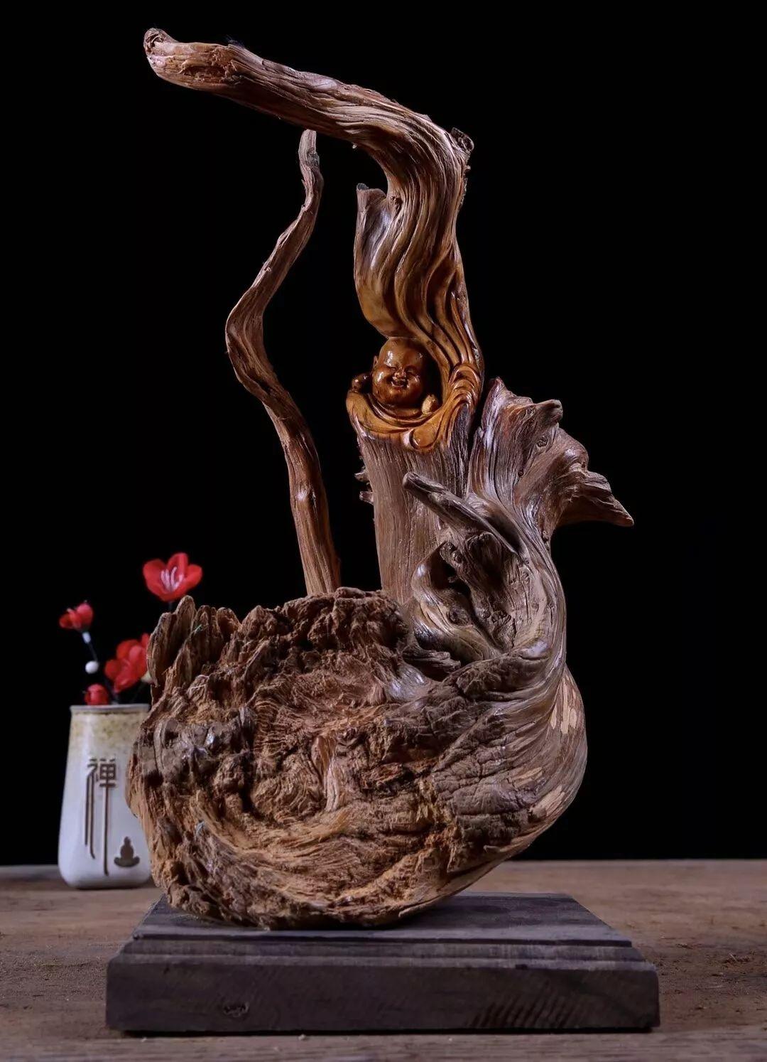 不一样的根雕工艺品,重材重料更重艺术!