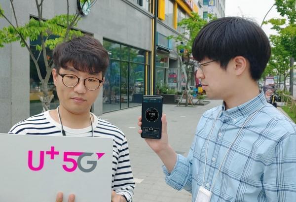 华为助力LG Uplus手机速率达到1.1Gbps,再创韩国5G商用体验新高