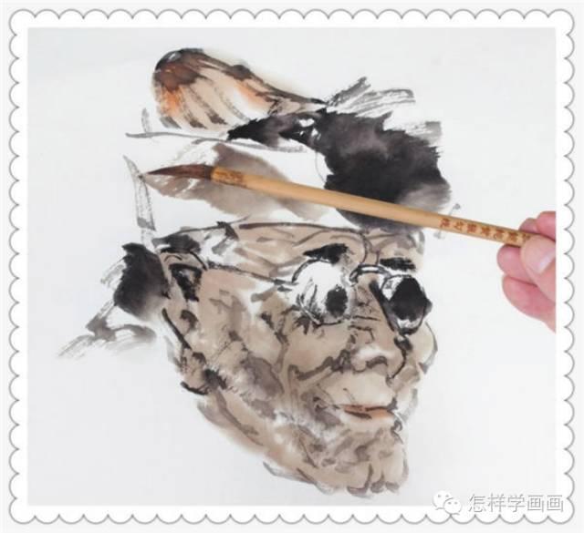 写意人物画画法:祈福教程的步骤步骤日语学习老人