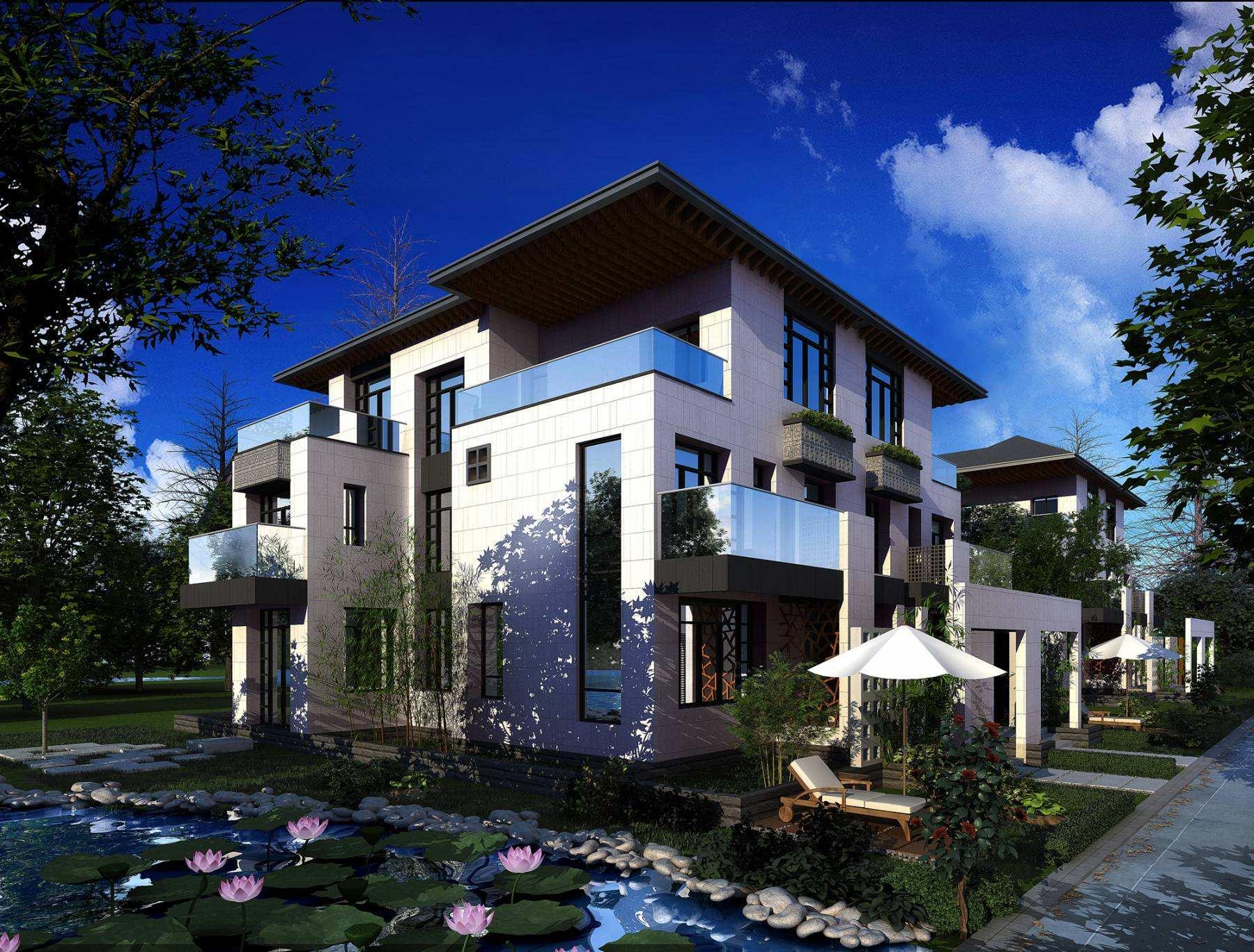 别墅前院景观设计图片