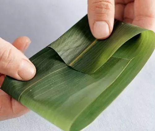 这种粽子多见广西等地,一般用粽叶包裹,粽叶非常宽大,像芭蕉叶一般图片