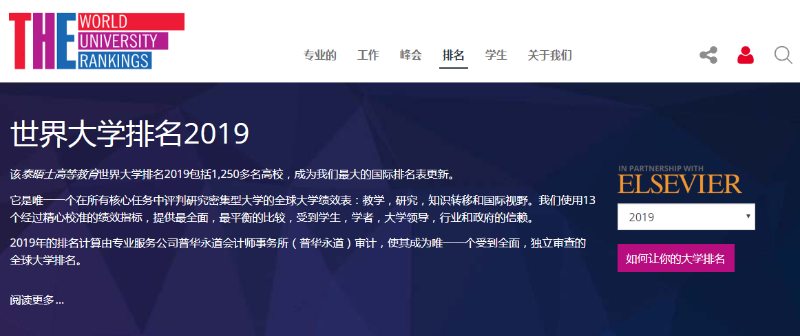 2019泰晤士中国计算机科学大学50强,清华第1,南科大第8