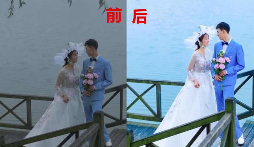 """连婚纱照都成""""照骗""""了,p图前VSp图后,网友:p图师我包了"""