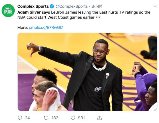 4大主因导致NBA没人看!萧华推锅:詹姆斯才是应该负责的人
