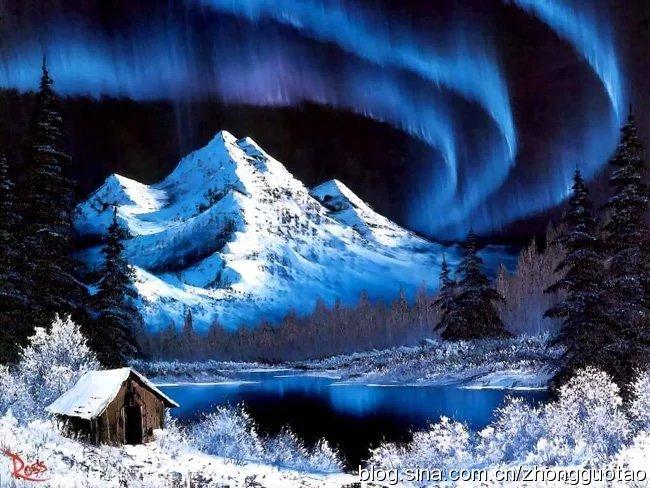 美国当代最富盛名的自然主义绘画大师Bob Ross风景油画作品欣赏!