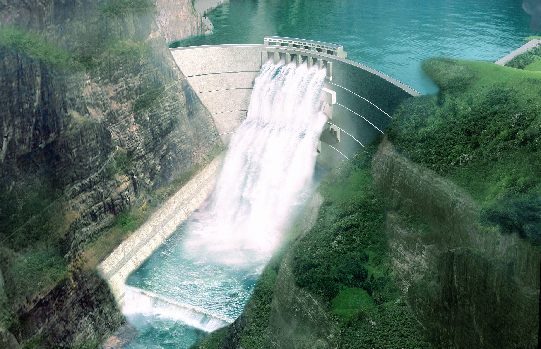 金沙江白鹤滩水电站效果图图片