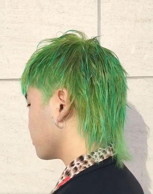 绿色染得好真的非常好看 就算是慢慢掉成哈密瓜色也超赞!