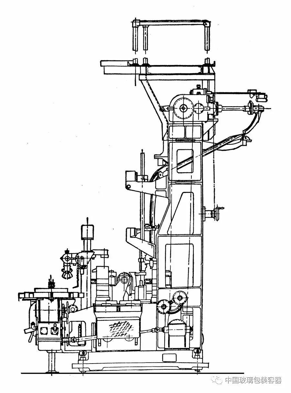 图4-6 行列式制瓶机侧视图图片