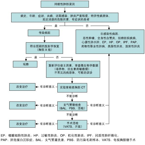 BP讲堂--持续性肺部浸润影的诊断步骤